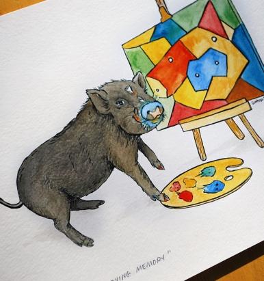Pigasso Pig Art Print