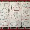 Pigxel Art Christmas Piggys Christmas Labels