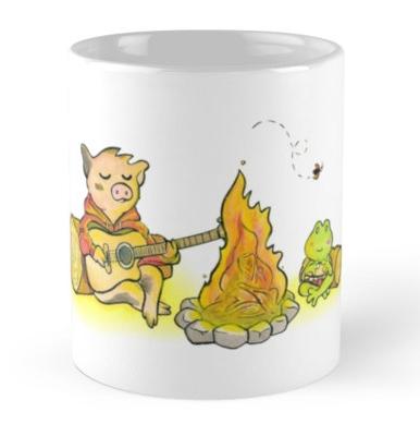 """Sukoshi Buta """"Campfire"""" Mug"""