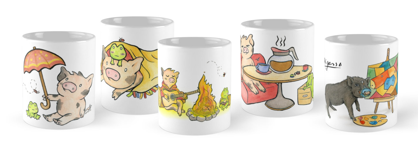 Sukoshi Buta Series 1 & Pigasso Mugs Now Available!