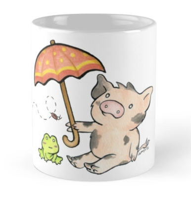 "Sukoshi Buta ""Umbrella"" Mug"