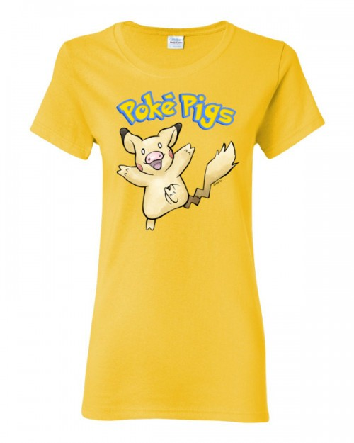 Poké Pigs No.25 Pigachu Women's Short Sleeve T-Shirt
