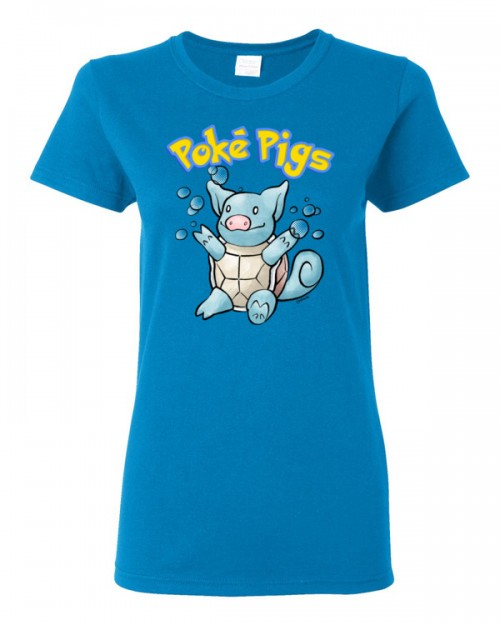 Poké Pigs No.007 Snortle Women's Short Sleeve T-Shirt