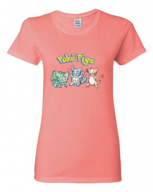Poké Pigs Starters Women's Short Sleeve T-Shirt