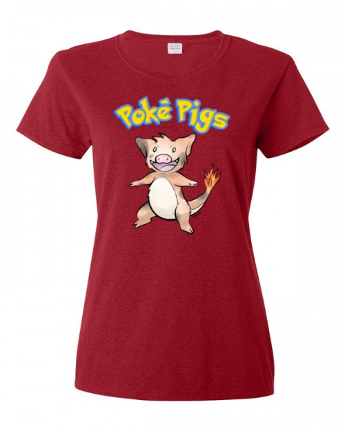 Poké Pigs No.004 Boarmander Women's Short Sleeve T-Shirt