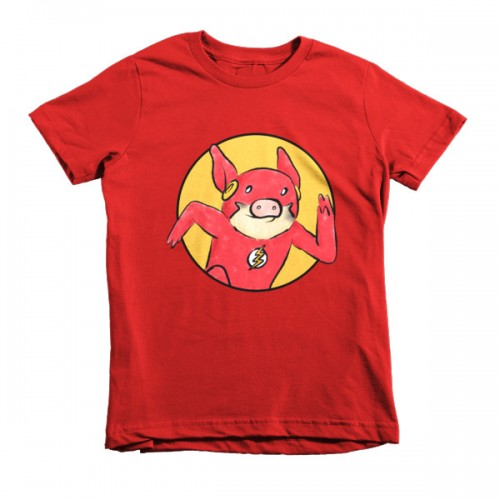 Flash Pig Short Sleeve Kids T-Shirt