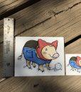 Winter Coat Snow Pig