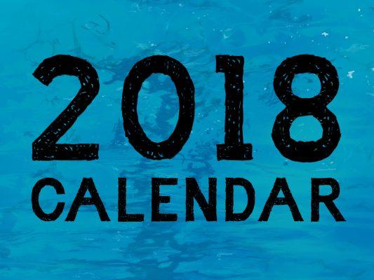 2018 calendar wbackground